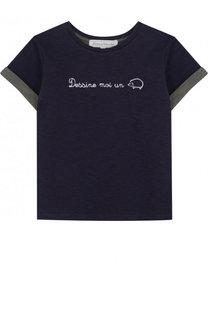 Хлопковая футболка с принтом Tartine Et Chocolat