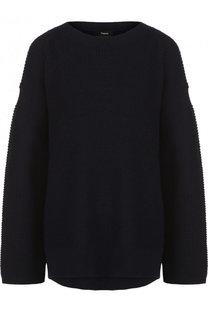 Однотонный кашемировый пуловер свободного кроя Theory
