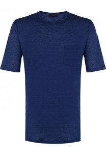 Льняная футболка с круглым вырезом Paul&Shark Paul&Shark