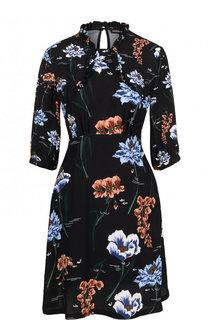 Приталенное мини-платье с цветочным принтом Markus Lupfer