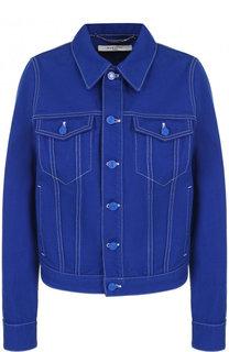 Джинсовая куртка с контрастной прострочкой Givenchy