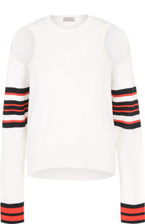 Пуловер из смеси хлопка и шелка с кашемиром MRZ