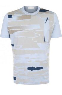 Шелковая футболка с принтом Cortigiani