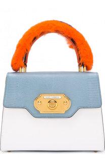 Сумка Welcome с отделкой из меха кролика Dolce & Gabbana