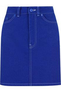 Джинсовая мини-юбка с контрастной прострочкой Givenchy