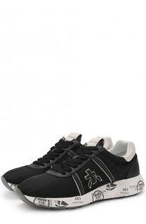 Комбинированные кроссовки Mattew-D на шнуровке Premiata