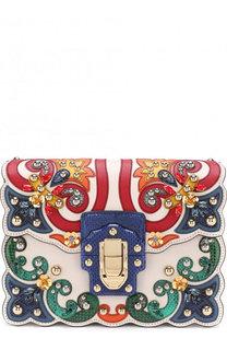 Сумка Lucia с отделкой из кожи змеи Dolce & Gabbana