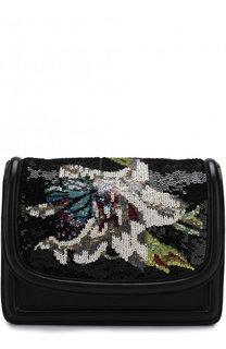 Сумка с вышивкой пайетками Dries Van Noten