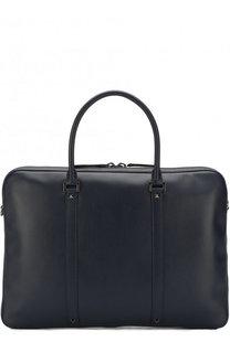 Кожаная сумка для ноутбука Valentino Garavani с плечевым ремнем Valentino