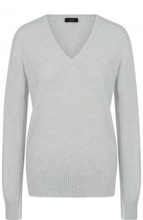 Однотонный кашемировый пуловер с V-образным вырезом Joseph