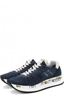 Текстильные кроссовки Conny на шнуровке Premiata