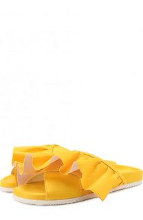 Текстильные шлепанцы Ruffle с оборками Joshua Sanders