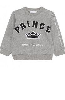 Хлопковый свитшот с аппликациями Dolce & Gabbana