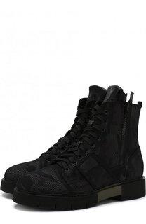 Высокие текстильные ботинки на шнуровке O.X.S.