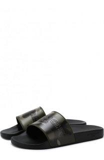 Резиновые шлепанцы с камуфляжным принтом Givenchy