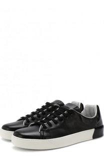 Кожаные кеды на шнуровке Premiata