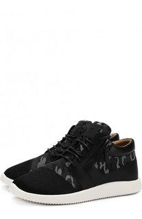 Текстильные кроссовки Runner на шнуровке Giuseppe Zanotti Design