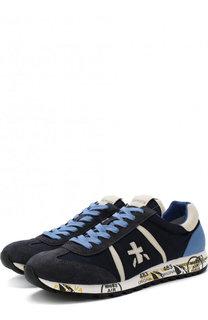 Комбинированные кроссовки на шнуровке Premiata