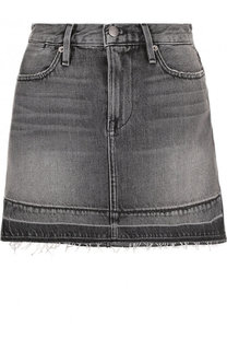 Джинсовая мини-юбка с потертостями Frame Denim