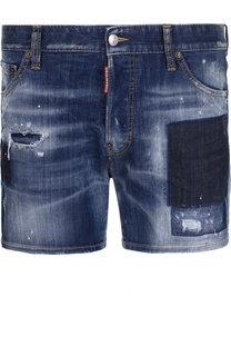 Джинсовые шорты с потертостями Dsquared2