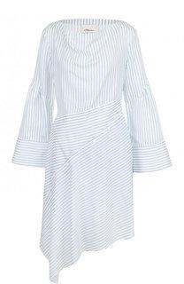 Приталенное мини-платье асимметричного кроя в полоску 3.1 Phillip Lim