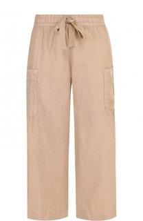 Укороченные льняные брюки с эластичным поясом Deha