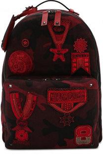 Текстильный рюкзак Valentino Garavani с нашивками Valentino