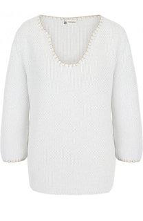 Хлопковый пуловер фактурной вязки Colombo