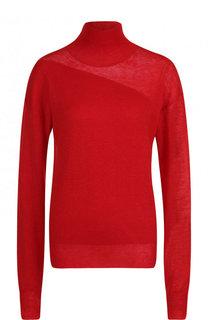 Однотонный свитер из смеси шерсти и шелка Helmut Lang