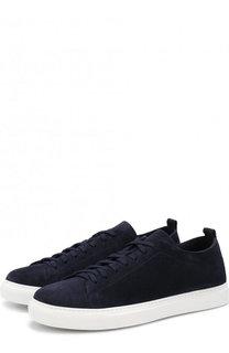 Замшевые кеды на шнуровке H`D`S`N Baracco