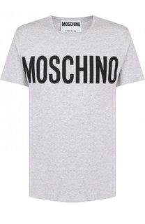 Хлопковая футболка с логотипом бренда Moschino