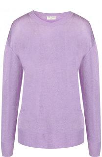 Однотонный вязаный пуловер с круглым вырезом Dries Van Noten