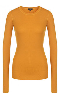 Облегающий шерстяной пуловер с круглым вырезом Theory