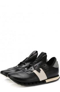 Кожаные кроссовки без шнуровки Artselab