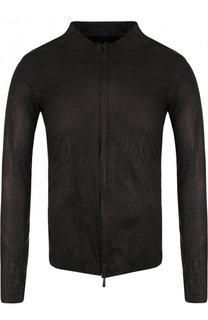 Кожаная куртка на молнии с круглым вырезом Masnada