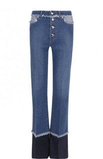 Расклешенные джинсы с потертостями Sonia Rykiel