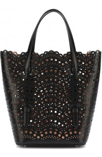 Кожаная сумка с перфорацией Alaia