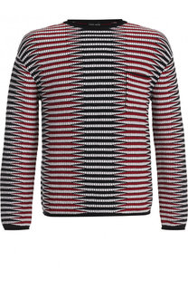 Джемпер фактурной вязки из смеси вискозы и шерсти Giorgio Armani