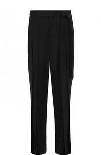 Однотонные широкие брюки из шерсти Saint Laurent