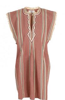 Хлопковое мини-платье свободного кроя Isabel Marant Etoile