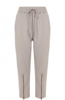 Укороченные хлопковые брюки с эластичным поясом Roque