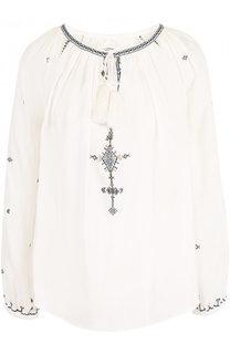 Хлопковая блуза свободного кроя с круглым вырезом Isabel Marant Etoile