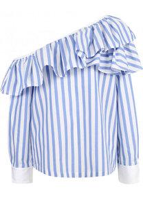 Блуза в полоску с открытым плечом Clu