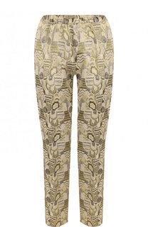 Жаккардовые брюки прямого кроя Dries Van Noten