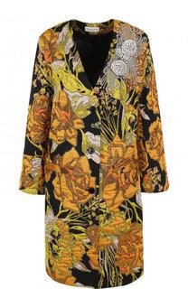 Пальто свободного кроя с контрастной отделкой Dries Van Noten