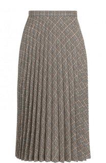Шерстяная плиссированная юбка-миди Maison Margiela