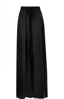 Однотонная юбка-макси из шелка Ann Demeulemeester