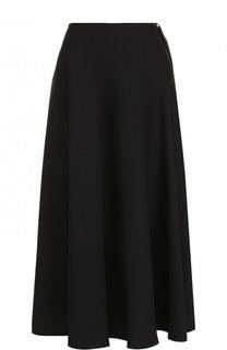 Однотонная юбка-миди из полиэстера Maison Margiela