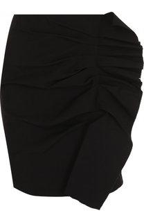 Однотонная мини-юбка из смеси хлопка и вискозы Isabel Marant