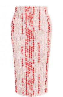 Буклированная юбка-карандаш Alexander McQueen